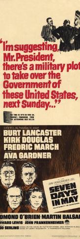 Seven Days in May, 1964 Konstprint