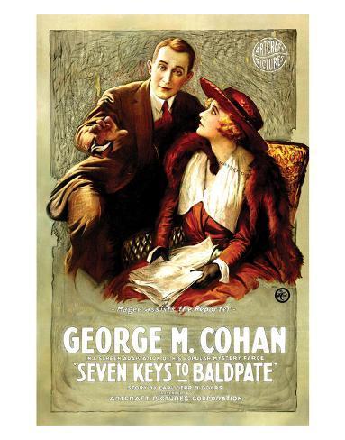 Seven Keys To Baldpate - 1917 Impressão giclée