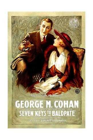 SEVEN KEYS TO BALDPATE, l-r: George M. Cohan, Anna Q. Nilsson, 1917 Art Print