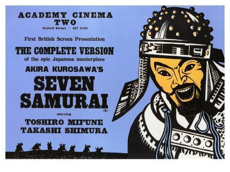 Seven Samurai, 1954 Stampa artistica