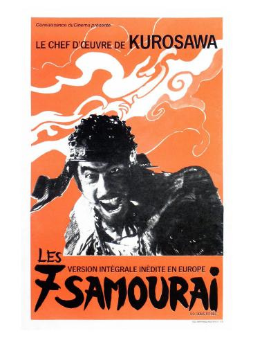 Seven Samurai, French Movie Poster, 1954 Art Print