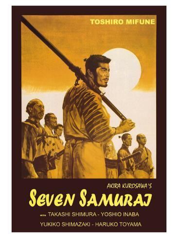 Seven Samurai, Italian Movie Poster, 1954 Art Print