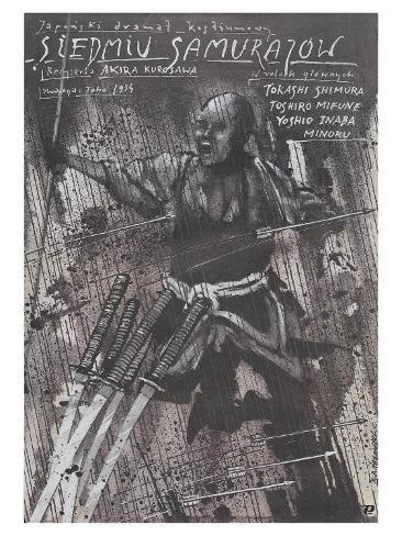 Seven Samurai, Polish Movie Poster, 1954 Stampa artistica