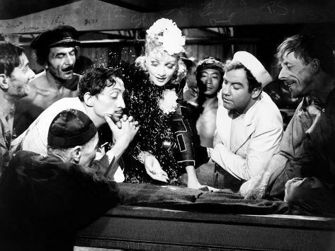 Seven Sinners, Mischa Auer, Marlene Dietrich, Broderick Crawford, 1940 Stretched Canvas Print