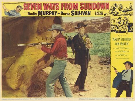 Seven Ways From Sundown, 1960 Konstprint
