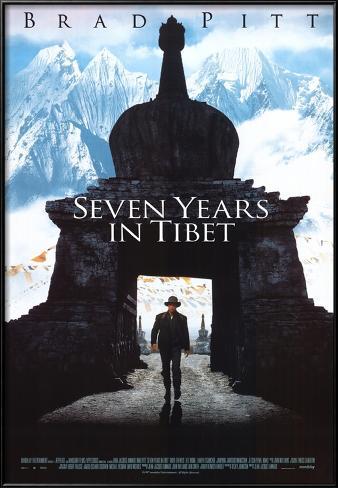 Seven Years in Tibet Lamina Framed Poster