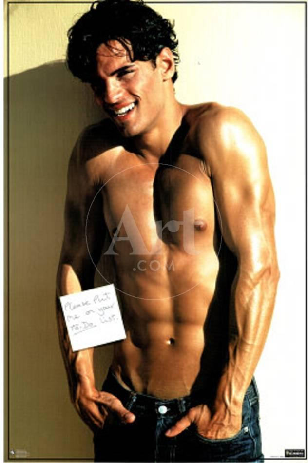 Sexy Hot Shirtless Guy, To-Do List, Photo Print Poster Posters at  AllPosters.com