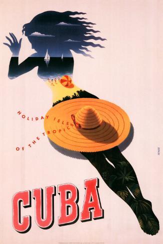 Cuba, Holiday Isle of the Tropics Art Print