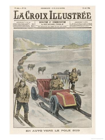 Shackleton's South Pole Car Giclee Print