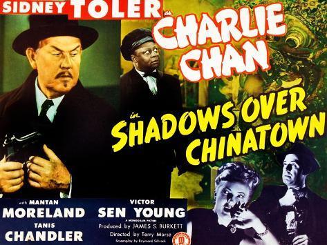 Shadows Over Chinatown Impressão artística