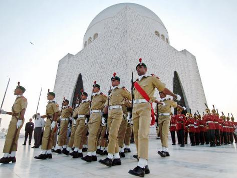 A Contingent of the Cadets of Pakistan Army Photographic Print