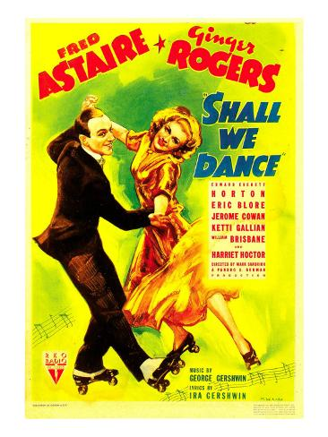 Shall We Dance?, Fred Astaire, Ginger Rogers on Midget Window Card, 1937 Photo