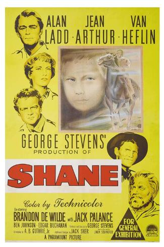 Shane, 1953, Directed by George Stevens Giclee Print