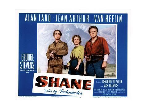 Shane, Alan Ladd, Jean Arthur, Van Heflin, 1953 Foto