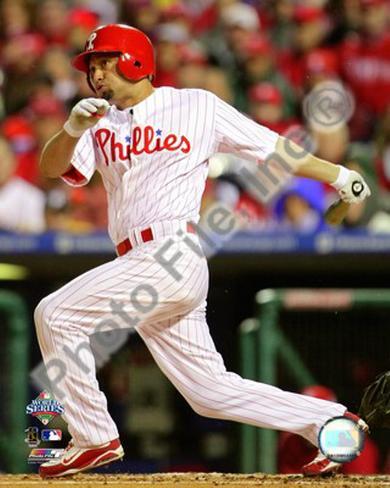 Shane Victorino Game 5 of the 2008 MLB World Series Framed Photographic Print