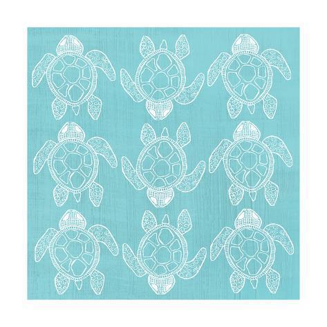 オールポスターズの shanni welsh turtle pattern sea blue ポスター