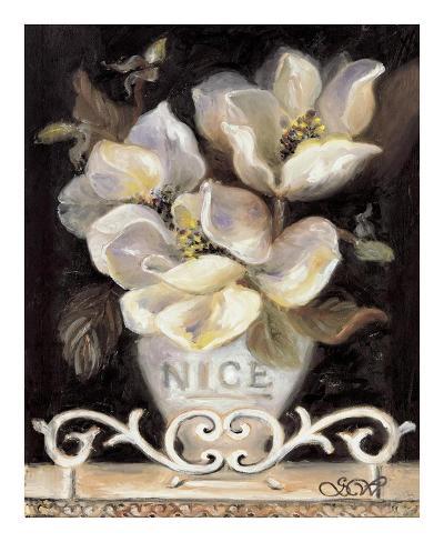 Magnolias of Nice Art Print