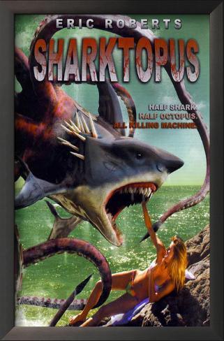 Sharktopus Impressão artística emoldurada