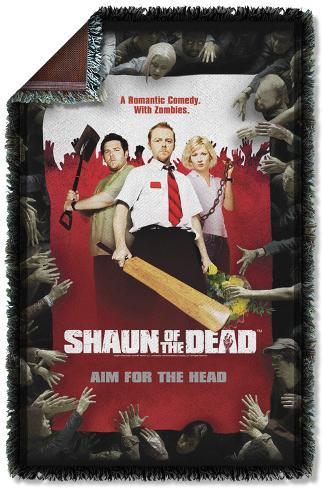 Shaun Of The Dead - Poster Woven Throw Throw Blanket