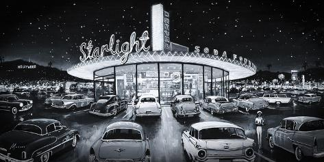 Starlight Drive-In Giclee Print