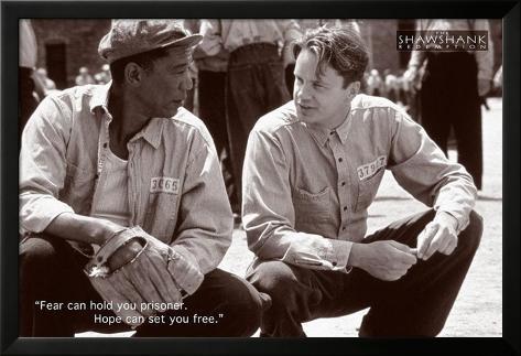 Shawshank Redemption Hope Movie Poster Póster enmarcado con plástico protector