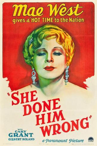 She Done Him Wrong, 1933 Gicléetryck