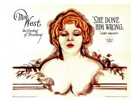 She Done Him Wrong, Mae West, 1933 Photo
