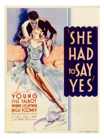 She Had to Say Yes, Lyle Talbot, Loretta Young on Midget Window Card, 1933 Photo