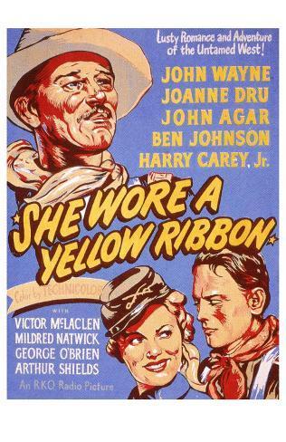 She Wore a Yellow Ribbon, 1949 Masterprint