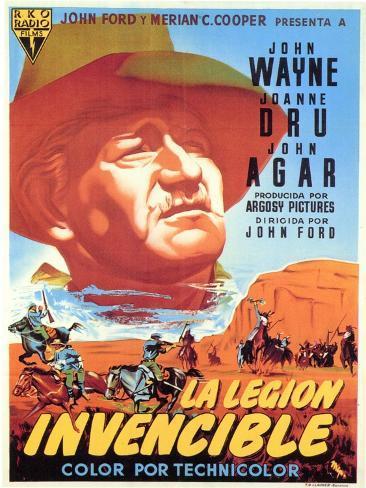 She Wore a Yellow Ribbon, Spanish Movie Poster, 1949 Art Print
