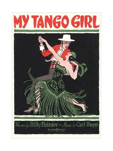 Sheet Music for My Tango Girl Stampa artistica