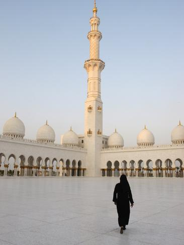 Sheikh Zayed Grand Mosque, the Biggest Mosque in the U.A.E., Abu Dhabi Photographic Print