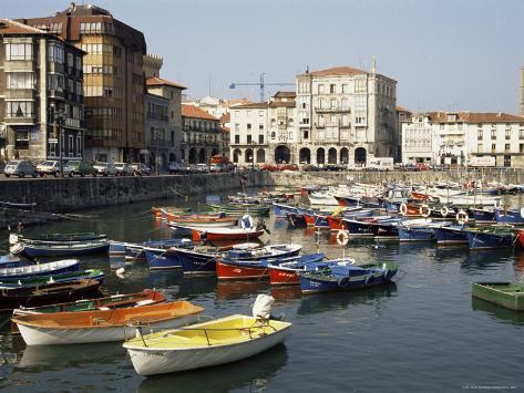 Harbour, Castro-Urdiales, Cantabria, Spain Photographic Print