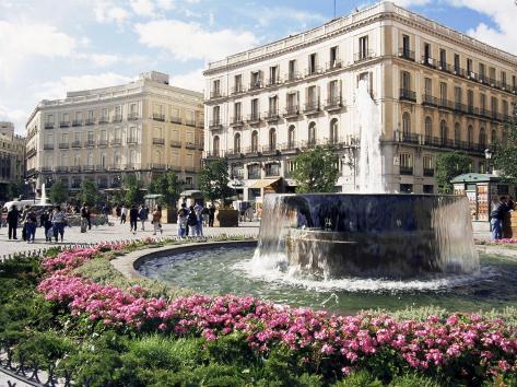 Puerta Del Sol, Madrid, Spain Photographic Print