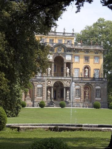 Villa Torrigiani, Camigliano Village, Lucca, Tuscany, Italy Photographic Print