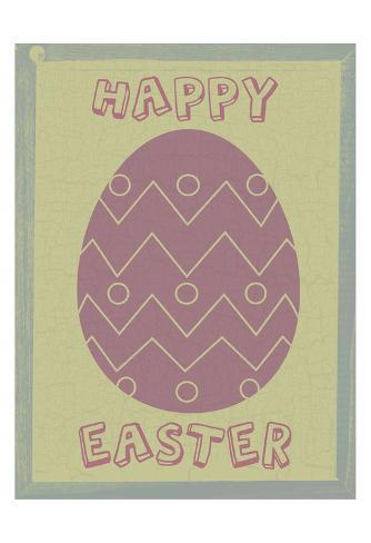 Happy Easter Egg Art Print