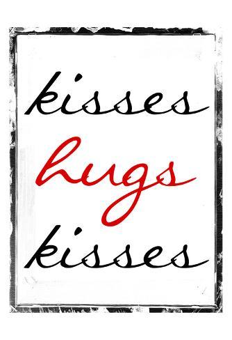 Hugs Kisses Art Print