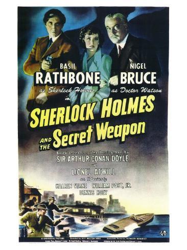 Sherlock Holmes and the Secret Weapon Art Print