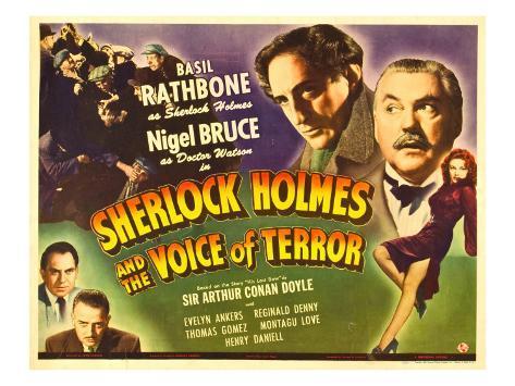 Sherlock Holmes and the Voice of Terror, Thomas Gomez, Reginald Denny, 1942 Photo