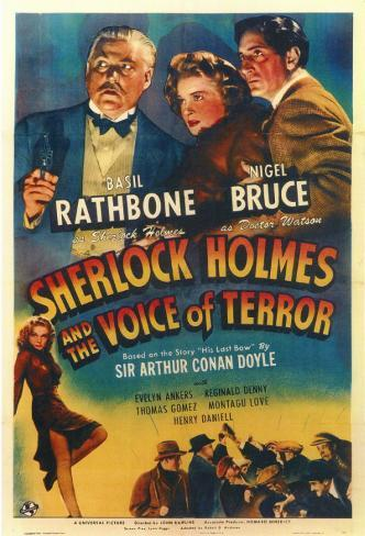 Sherlock Holmes and the Voice of Terror Masterprint