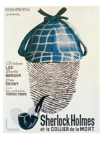 Sherlock Holmes et le Collier de la Mort Art Print