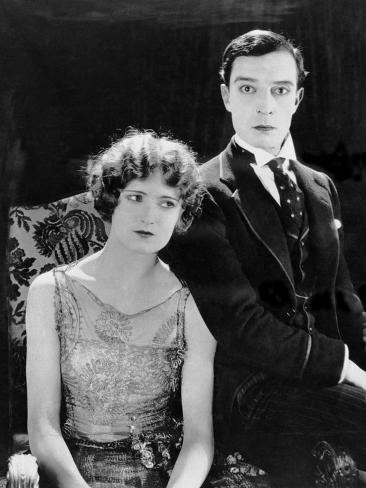 Sherlock Jr., Kathryn McGuire, Buster Keaton, 1924 Stretched Canvas Print