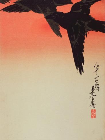 Crows in Flight at Sunrise, 1888 Giclee Print