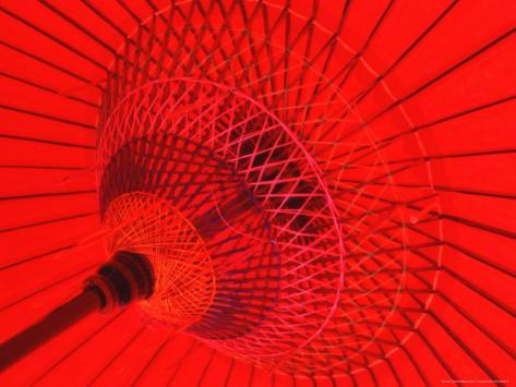 Red Radial, Japan Photographic Print