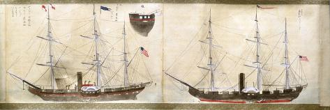Ships of Commodore Perry's American Expedition to Japan of 1852-1854 Giclee Print