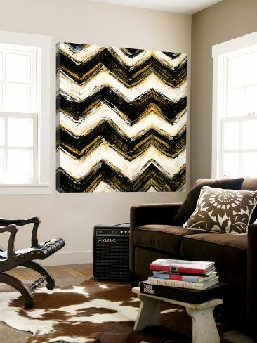 Black and Gold Geometric IV Crop Loft Art