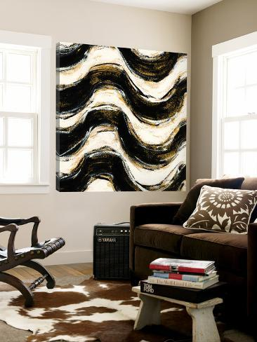 Black and Gold Geometric V Crop Loft Art