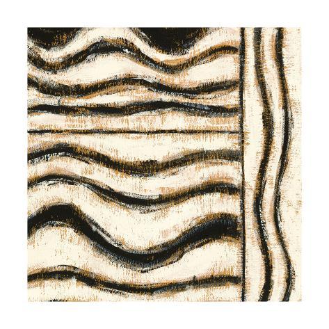 Black and Gold Geometric VI Art Print