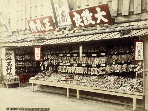 Shoe Shop in Kyoto, c.1890 Giclee Print