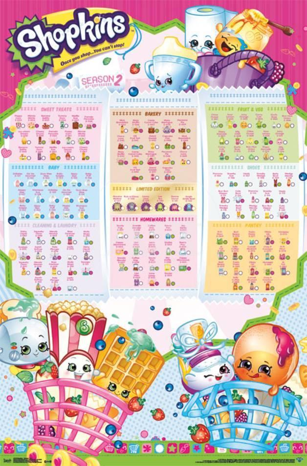 Shopkins Season 2 Grid Posters